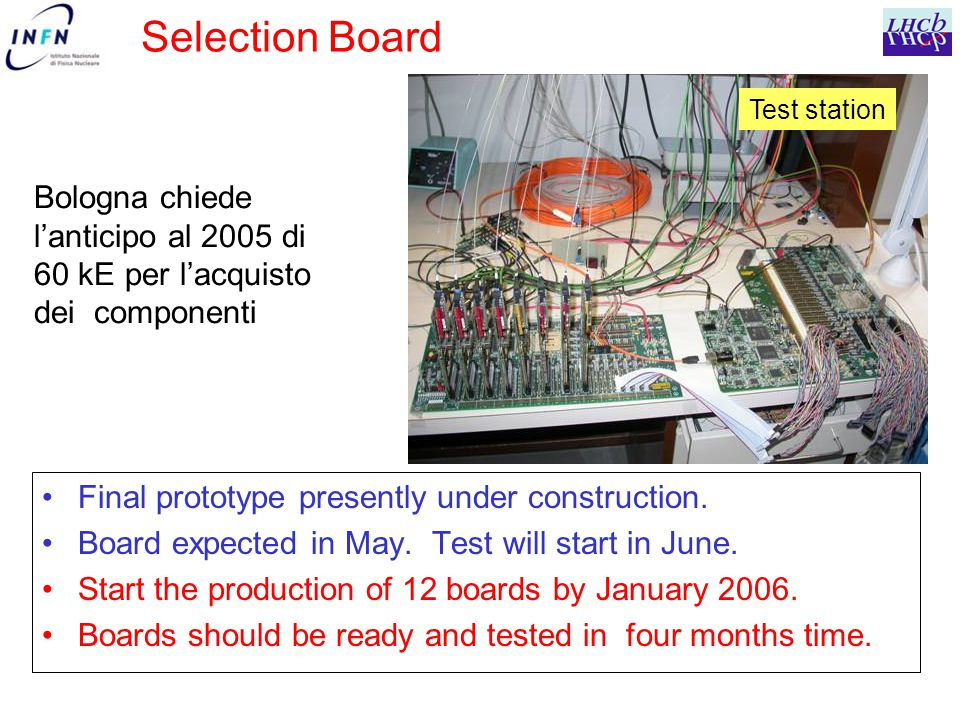 Selection Board Final prototype presently under construction.