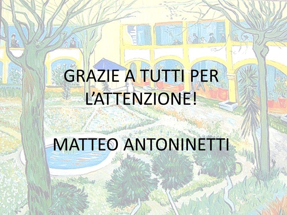 GRAZIE A TUTTI PER L'ATTENZIONE! MATTEO ANTONINETTI