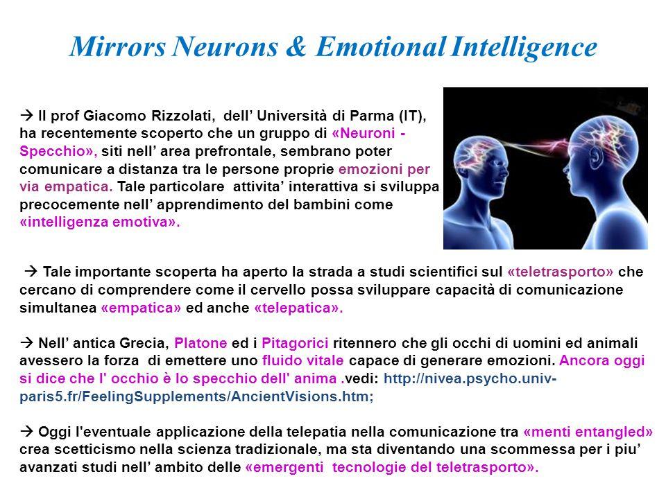  Tale importante scoperta ha aperto la strada a studi scientifici sul «teletrasporto» che cercano di comprendere come il cervello possa sviluppare ca