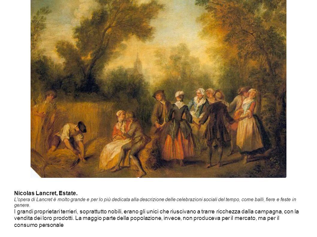 Nicolas Lancret, Estate. L'opera di Lancret è molto grande e per lo più dedicata alla descrizione delle celebrazioni sociali del tempo, come balli, fi