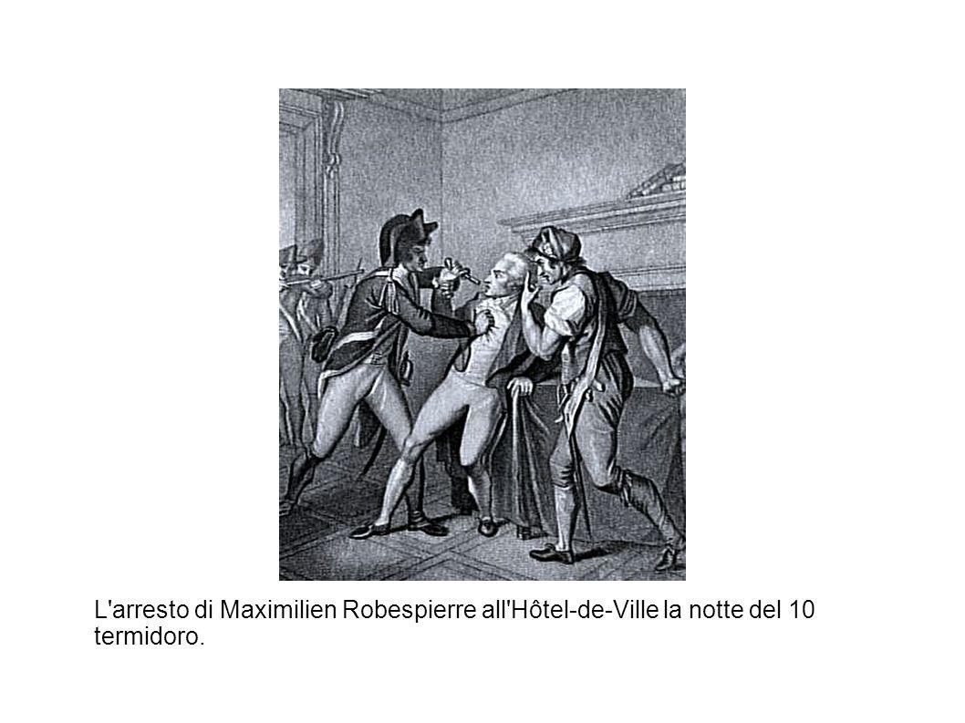 L'arresto di Maximilien Robespierre all'Hôtel-de-Ville la notte del 10 termidoro.