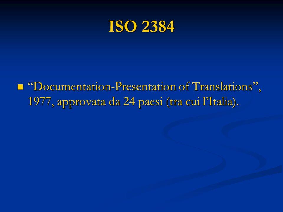 Punto n.4 Elementi obbligatori e facoltativi di ogni traduzione.