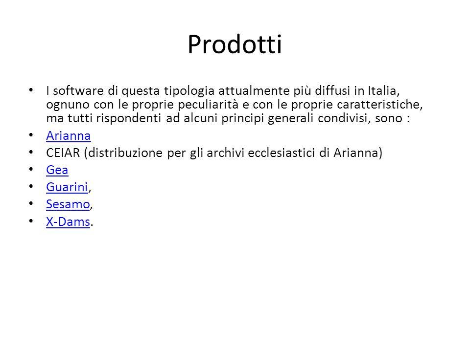 Prodotti I software di questa tipologia attualmente più diffusi in Italia, ognuno con le proprie peculiarità e con le proprie caratteristiche, ma tutt