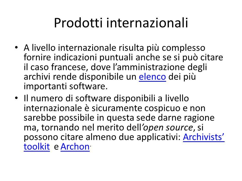ATOM ICA Un ragionamento a parte, anche per gli interessanti sviluppi che prospetta, va poi fatto su ICA ATOM, il software open source di descrizione archivistica elaborato in seno al Consiglio Internazionale degli Archivi.