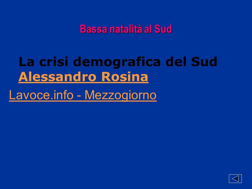 Bassa natalità al Sud La crisi demografica del Sud Alessandro Rosina Alessandro Rosina Lavoce.info - Mezzogiorno