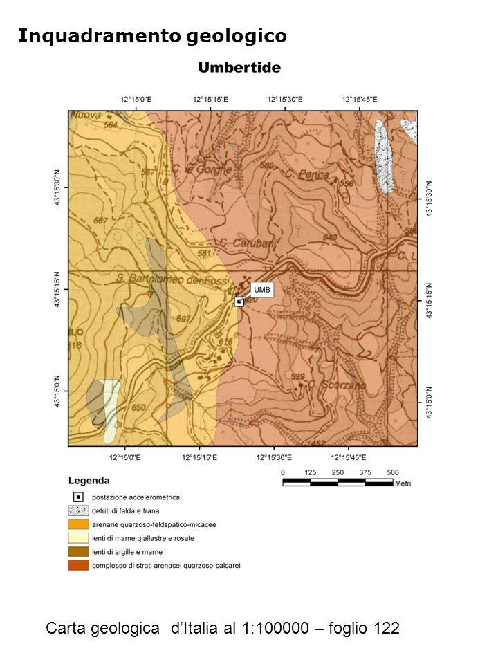Riferimenti Geologia Carta geologica d'Italia al 1:100000 – foglio 122