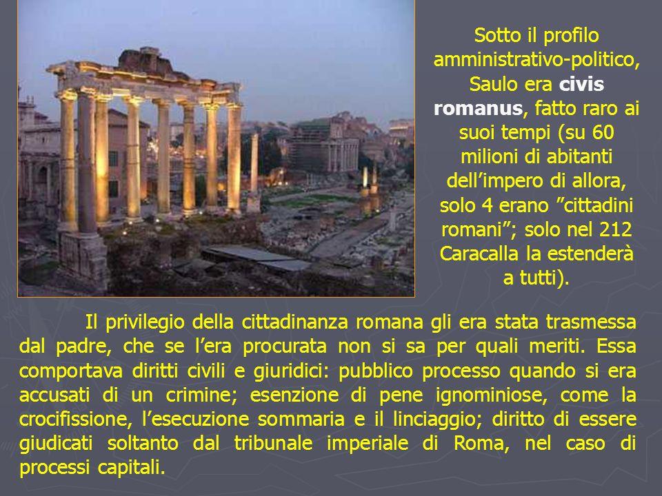 Il privilegio della cittadinanza romana gli era stata trasmessa dal padre, che se l'era procurata non si sa per quali meriti. Essa comportava diritti