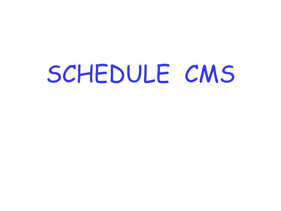 SCHEDULE CMS