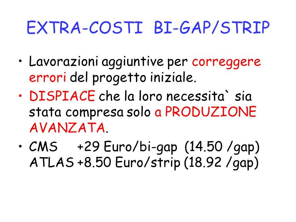 EXTRA-COSTI BI-GAP/STRIP Lavorazioni aggiuntive per correggere errori del progetto iniziale. DISPIACE che la loro necessita` sia stata compresa solo a