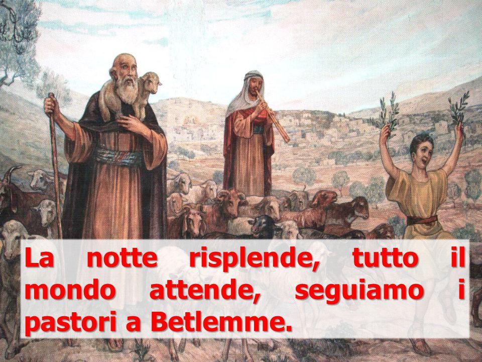 La notte risplende, tutto il mondo attende, seguiamo i pastori a Betlemme.