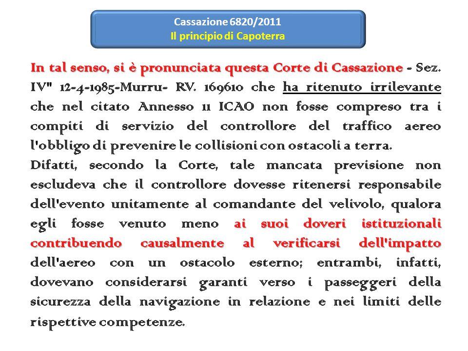 In tal senso, si è pronunciata questa Corte di Cassazione In tal senso, si è pronunciata questa Corte di Cassazione - Sez.