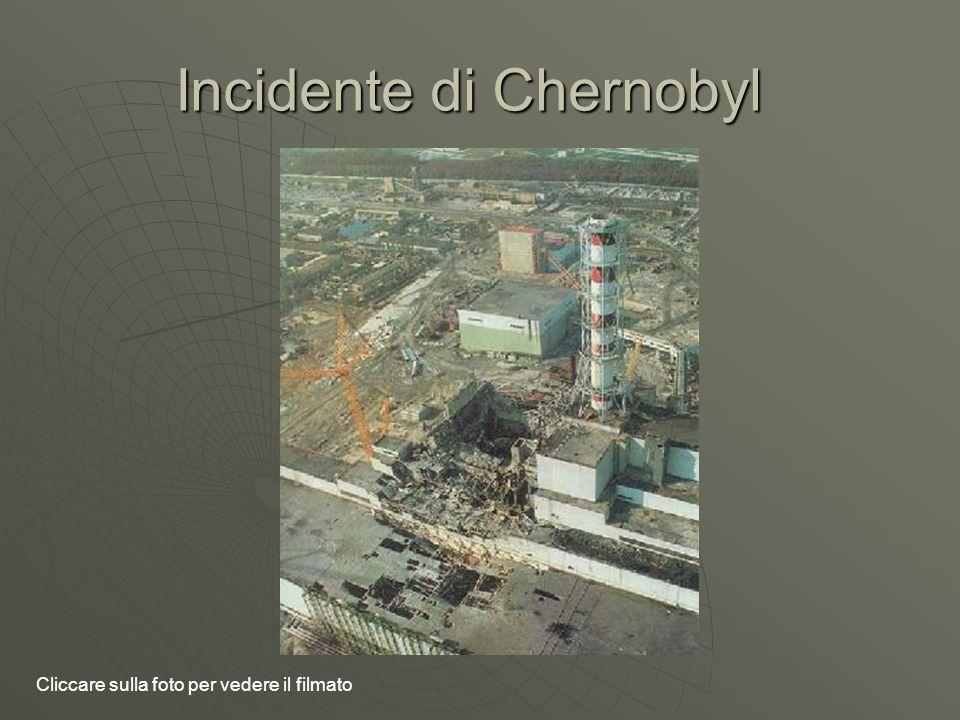 Incidente di Chernobyl Cliccare sulla foto per vedere il filmato