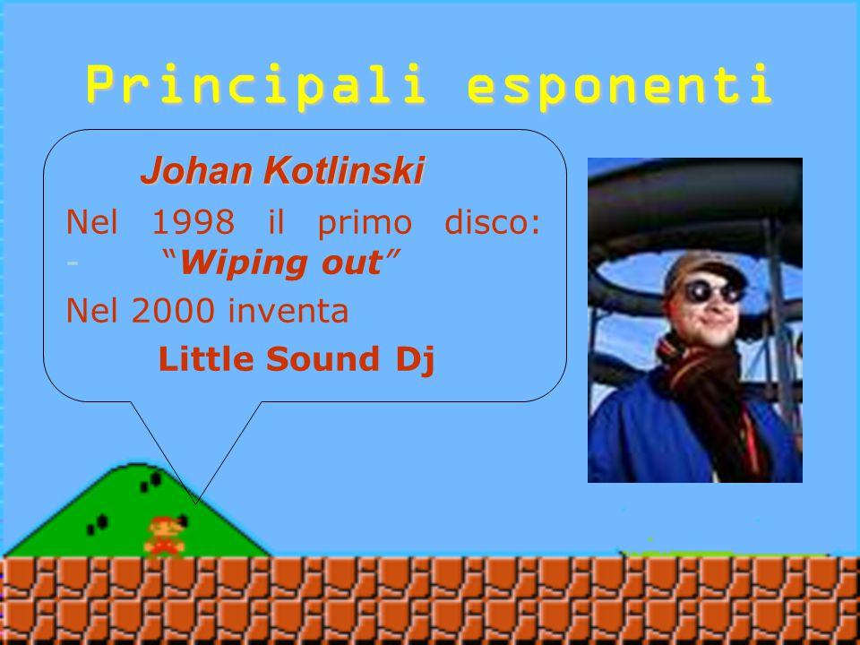 Principali esponenti Johan Kotlinski Johan Kotlinski Nato a Fidonet, in Svezia, nel1974 Dal 1993 crea musica con il suo Amiga Pseudonimo: Role Model Dal 1993 crea musica con il suo Amiga