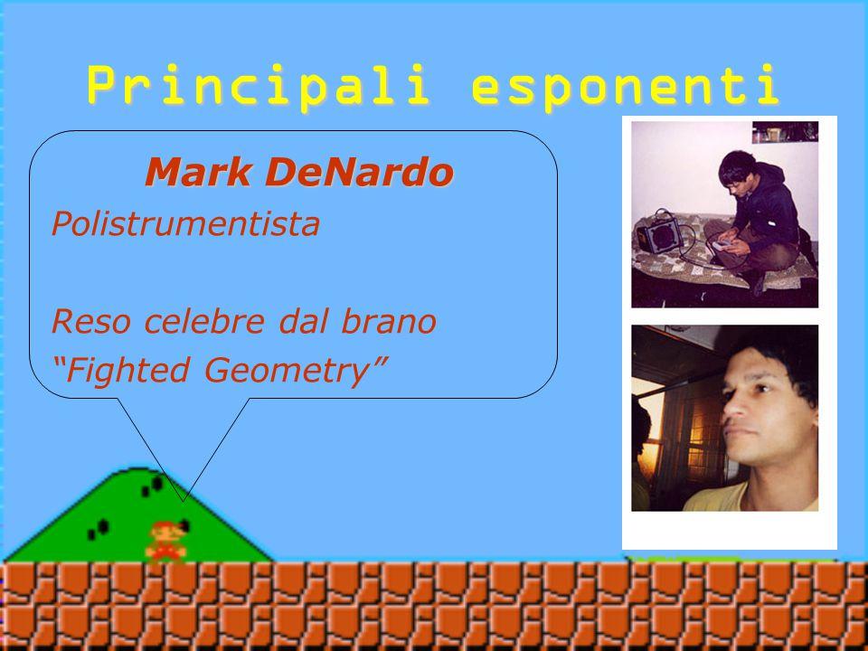 Principali esponenti Mark DeNardo Portoricano Mescola il suono di una chitarra acustica con un Gameboy