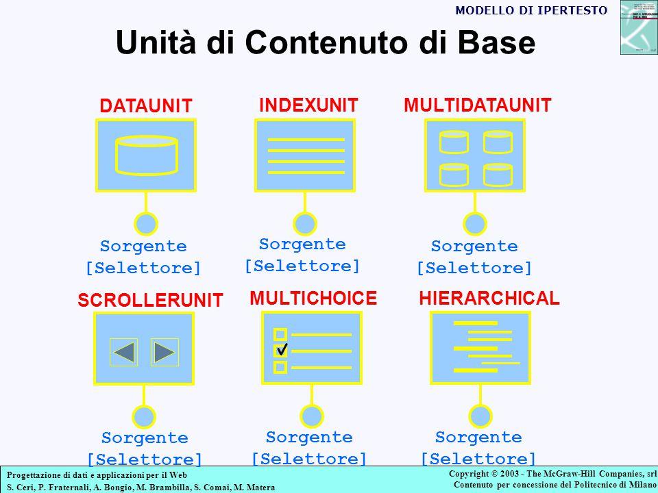 Progettazione di dati e applicazioni per il Web S.