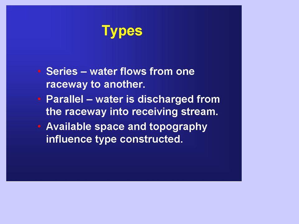 Tempo di ritenzione idraulica Il tempo di ritenzione idraulica rappresenta il tempo impiegato per effettuare un rinnovo completo del volume d'acqua presente nel raceway.