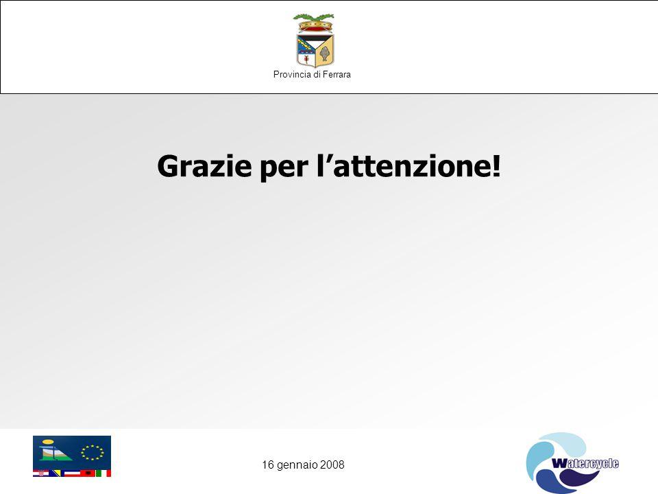 16 gennaio 2008 Grazie per l'attenzione! Provincia di Ferrara