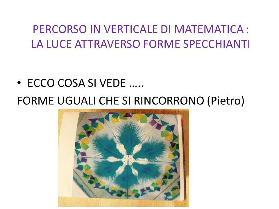 ECCO COSA SI VEDE ….. FORME UGUALI CHE SI RINCORRONO (Pietro)