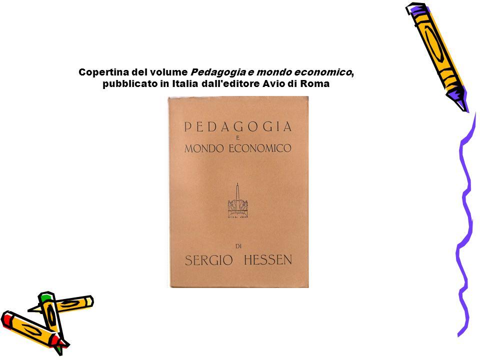 Copertina del volume Pedagogia e mondo economico, pubblicato in Italia dall'editore Avio di Roma