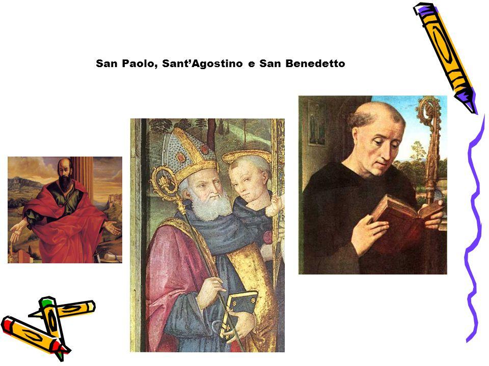 San Paolo, Sant'Agostino e San Benedetto