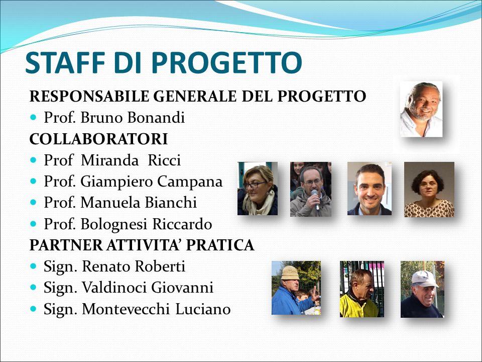 STAFF DI PROGETTO RESPONSABILE GENERALE DEL PROGETTO Prof.
