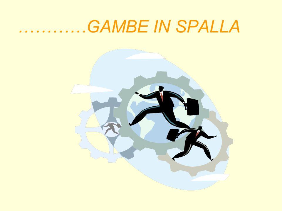 …………GAMBE IN SPALLA