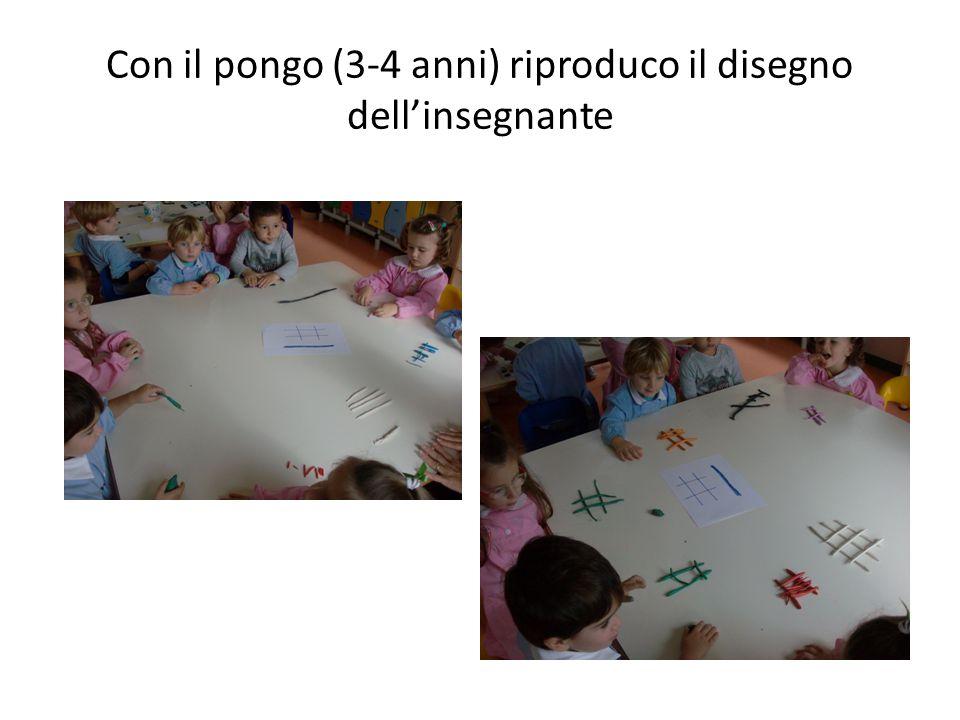Con il pongo (3-4 anni) riproduco il disegno dell'insegnante