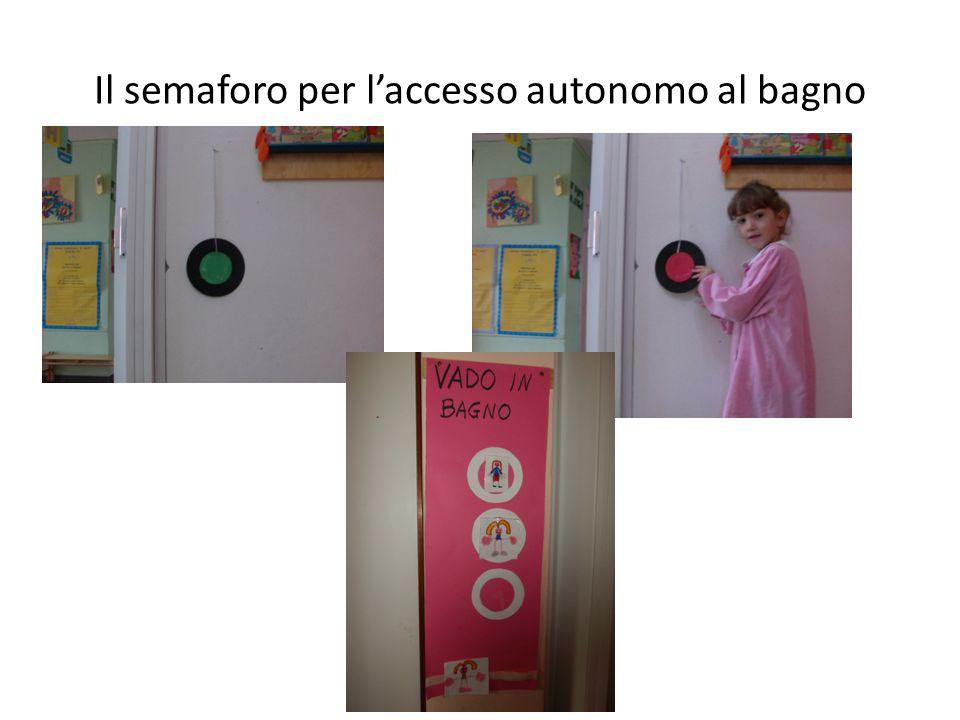 Il semaforo per l'accesso autonomo al bagno