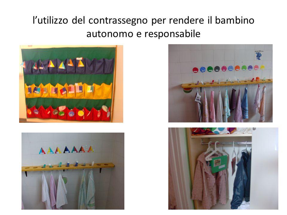 l'utilizzo del contrassegno per rendere il bambino autonomo e responsabile