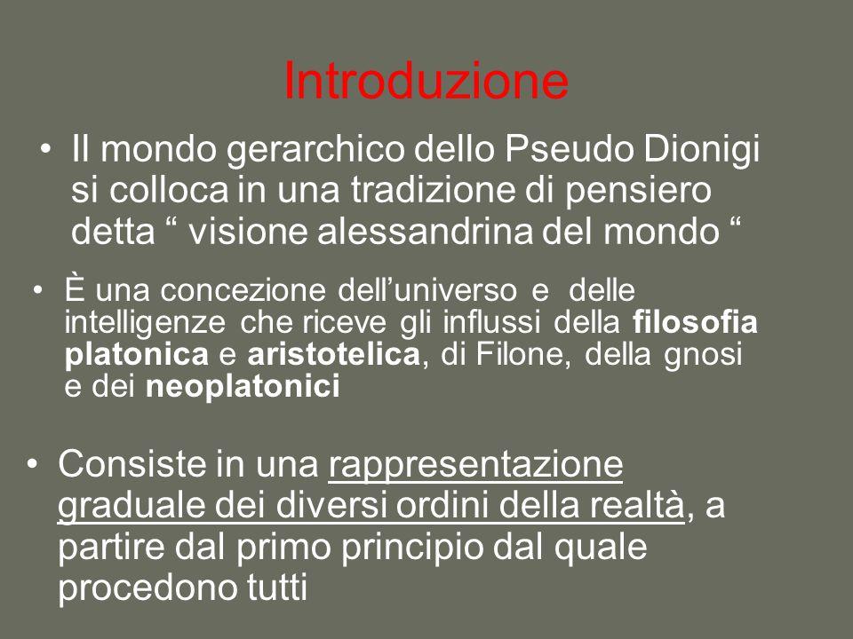 Introduzione È una concezione dell'universo e delle intelligenze che riceve gli influssi della filosofia platonica e aristotelica, di Filone, della gn