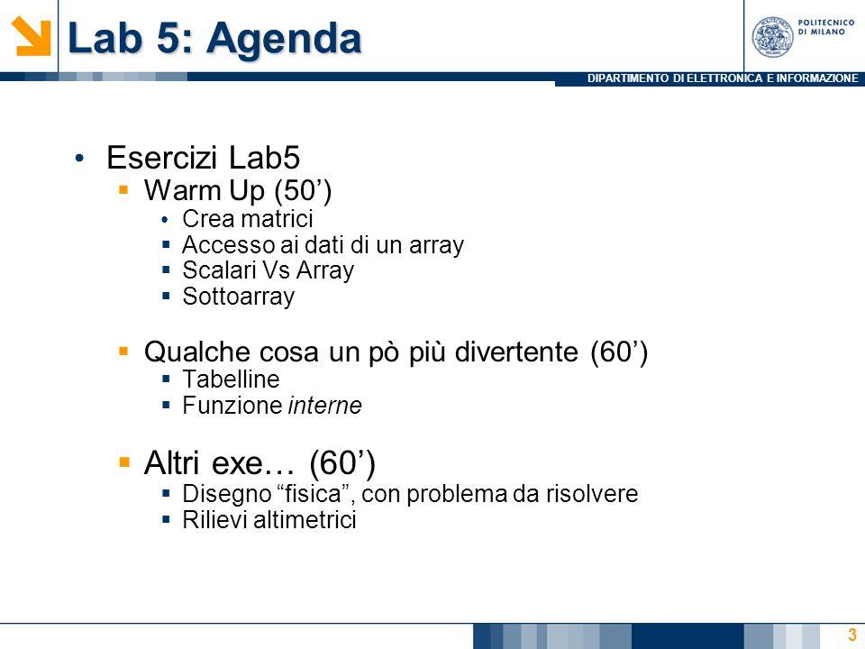 DIPARTIMENTO DI ELETTRONICA E INFORMAZIONE Sottoarray - Soluzione 14