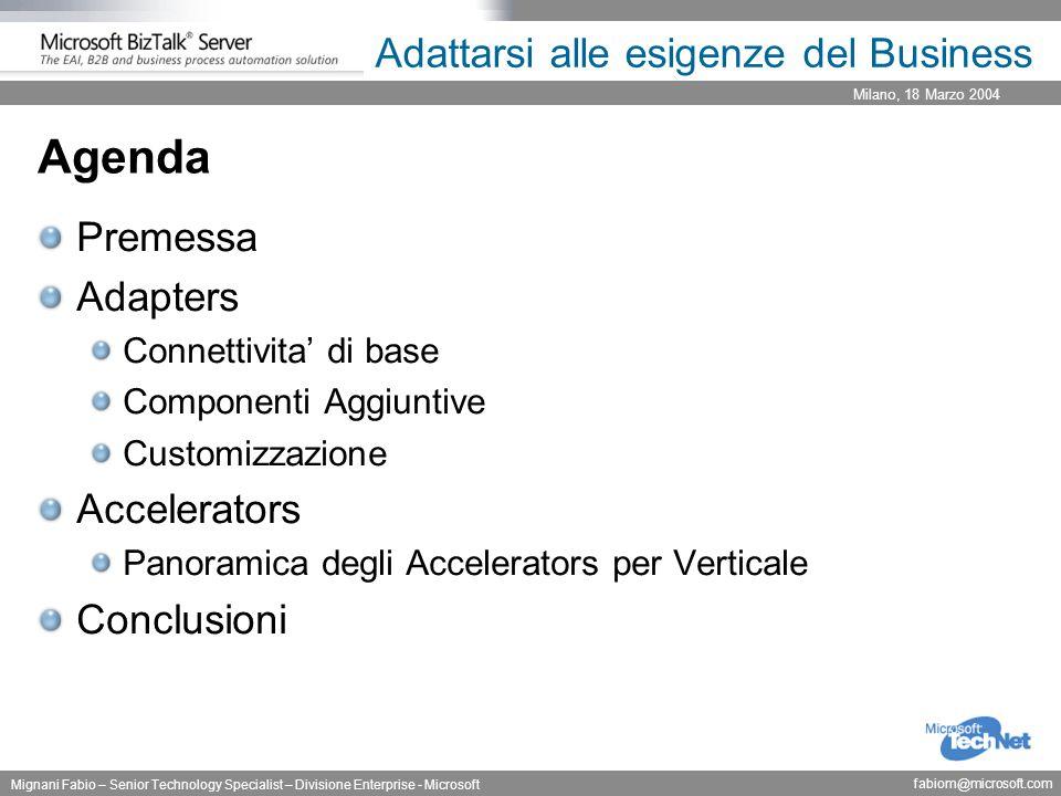 Milano, 18 Marzo 2004 Mignani Fabio – Senior Technology Specialist – Divisione Enterprise - Microsoft fabiom@microsoft.com Adattarsi alle esigenze del Business Premessa Complessita' ed Isolamento