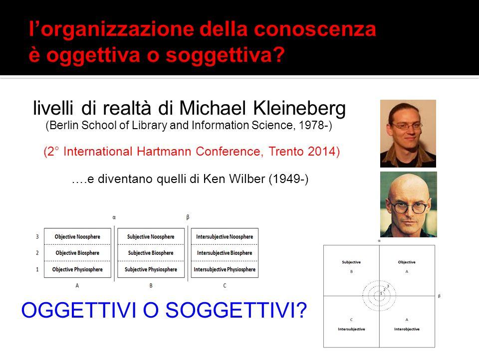 alcuni recenti tendenze e autori realisti nell'organizzazione della conoscenza: Integrative Levels Classification (2004) The León Manifesto (2007) Claudio Gnoli, Michael Kleineberg e Rick Szostak – 13.