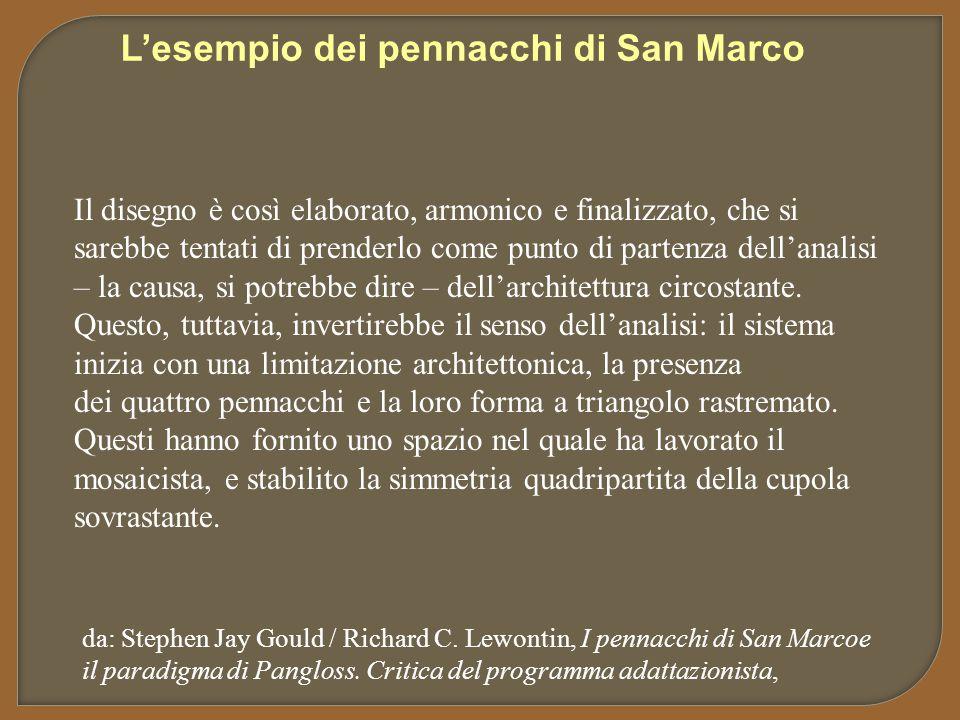 L'esempio dei pennacchi di San Marco Il disegno è così elaborato, armonico e finalizzato, che si sarebbe tentati di prenderlo come punto di partenza d