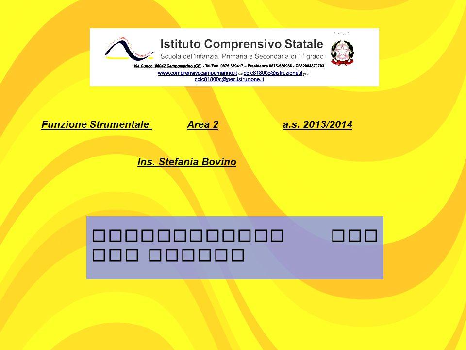 Funzione Strumentale Area 2 a.s. 2013/2014 Ins. Stefania Bovino QUESTIONARIO PER GLI ALUNNI