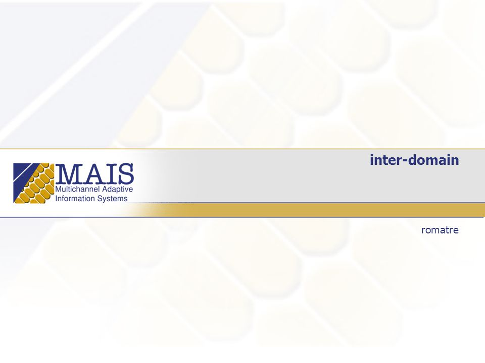 inter-domain romatre