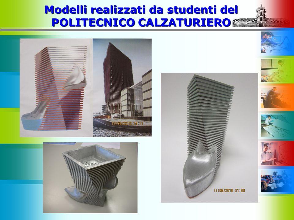 Modelli realizzati da studenti del POLITECNICO CALZATURIERO