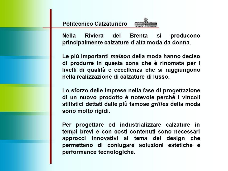 Politecnico Calzaturiero Nella Riviera del Brenta si producono principalmente calzature d'alta moda da donna. Le più importanti maison della moda hann