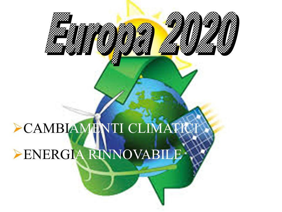  CAMBIAMENTI CLIMATICI  ENERGIA RINNOVABILE