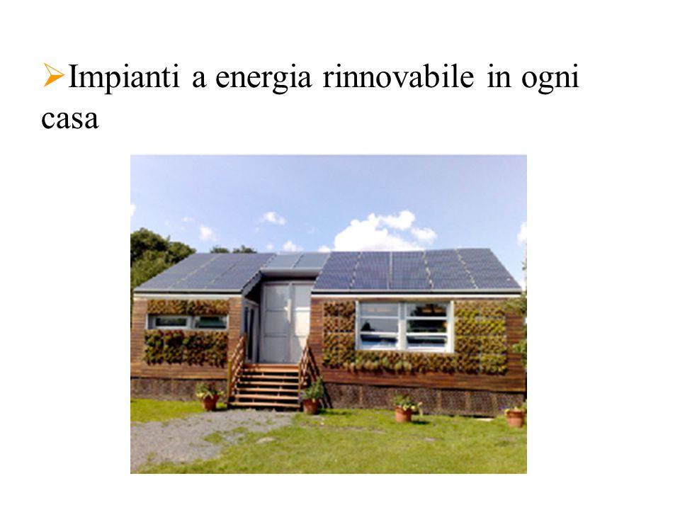  Impianti a energia rinnovabile in ogni casa