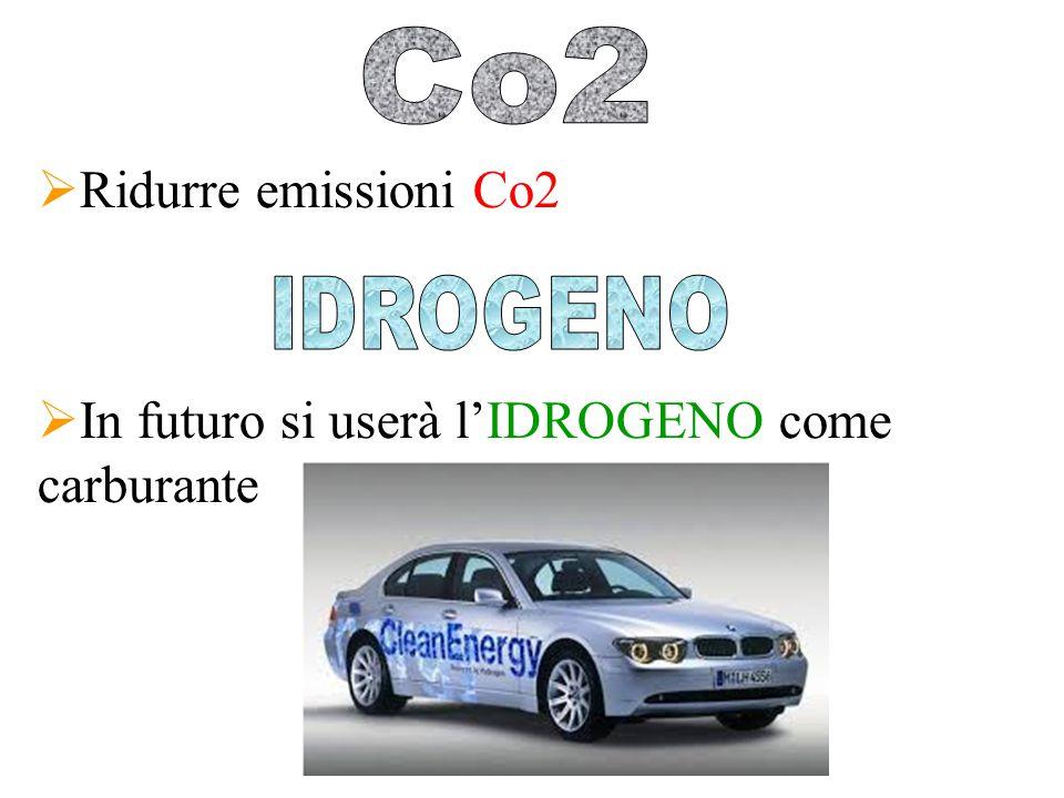  Ridurre emissioni Co2  In futuro si userà l'IDROGENO come carburante