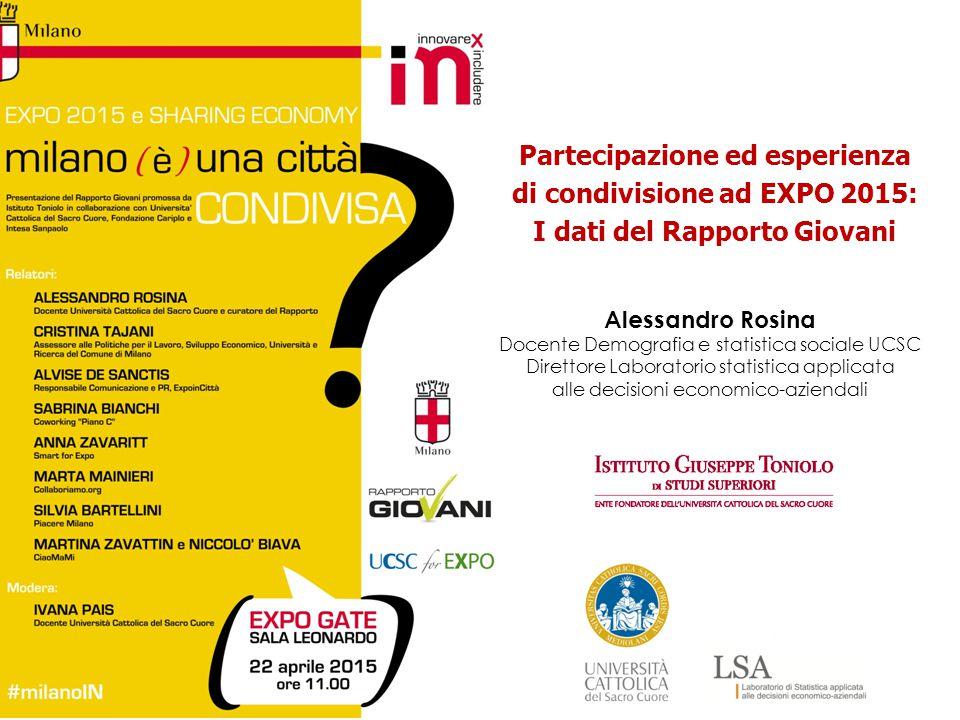 Alessandro Rosina Docente Demografia e statistica sociale UCSC Direttore Laboratorio statistica applicata alle decisioni economico-aziendali Partecipa