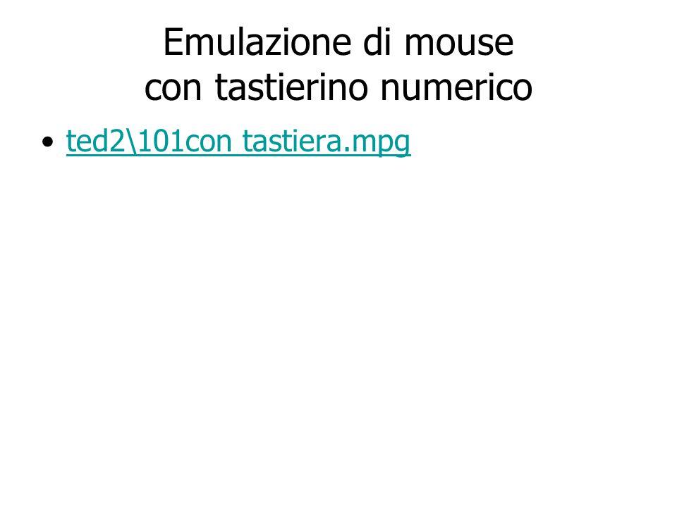 Emulazione di mouse con tastierino numerico ted2\101con tastiera.mpg
