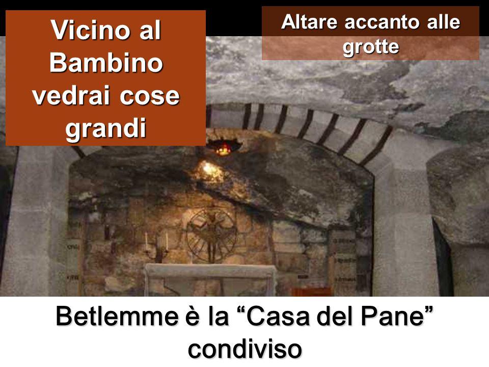 Betlemme è la Casa del Pane condiviso Vicino al Bambino vedrai cose grandi Altare accanto alle grotte