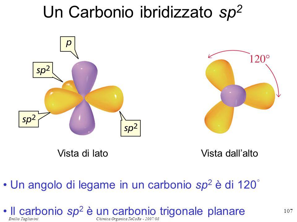 Emilio Tagliavini Chimica Organica TeCoRe - 2007/08 108 Il legame  si forma per sovrapposizione laterale di due orbitali p paralleli