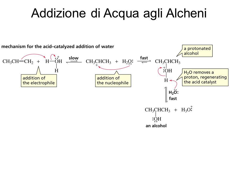 Emilio Tagliavini Chimica Organica TeCoRe - 2007/08 129 Addizione di Acqua agli Alcheni