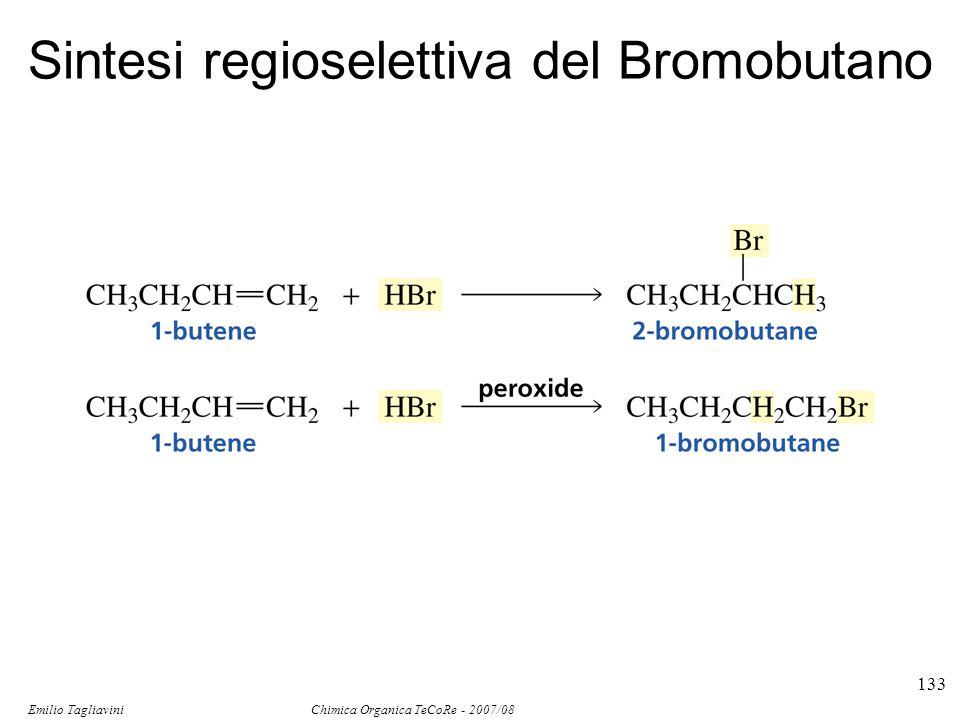 Emilio Tagliavini Chimica Organica TeCoRe - 2007/08 133 Sintesi regioselettiva del Bromobutano
