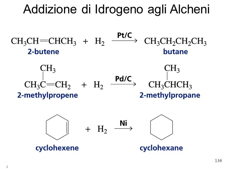 Emilio Tagliavini Chimica Organica TeCoRe - 2007/08 136 Addizione di Idrogeno agli Alcheni