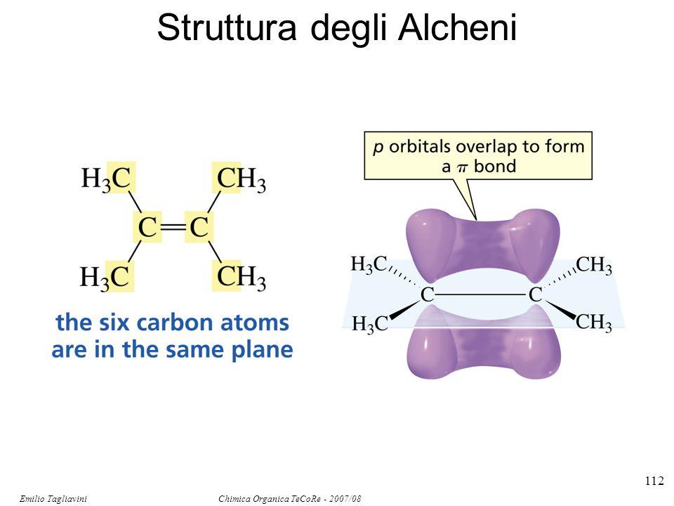 Emilio Tagliavini Chimica Organica TeCoRe - 2007/08 113 Isomeri Composti non identici che hanno la stessa formula molecolare