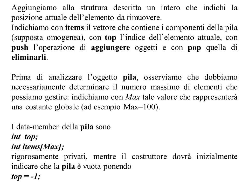 Program.Mod B - Cap. 12 - prof. Burattini 4 In questo caso non è necessario un distruttore.